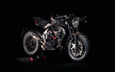черный спортбайк, новые мотоциклы, MV Agusta RVS, 2017, супербайк