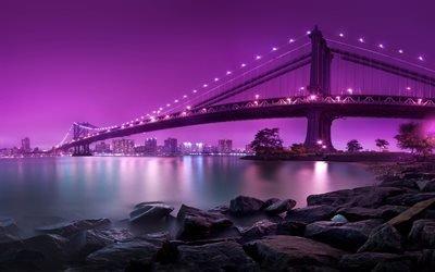 Бруклинский, мост, Бруклінський, міст, США, Нью-йорк