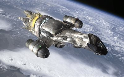 Космический, корабль, космічний, корабель