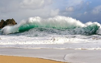 Большая, волна, велика, хвиля