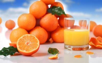 сок, апельсин, апельсины