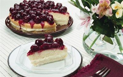 пирог, вишня