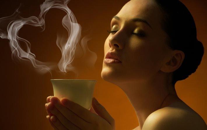 кофе, фото, девушка