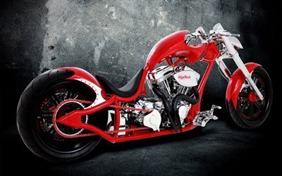 мотоцикл, красный