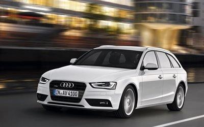 Біла, Ауді, А4, кузов, Авант, Audi, A4, Avant
