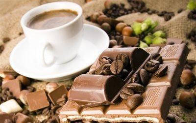 кофе, шоколад, орехи