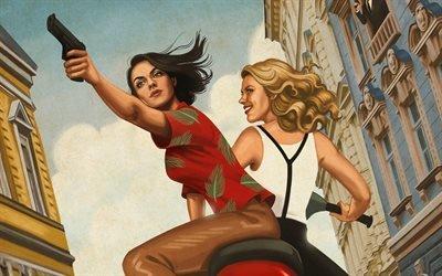 Шпион который меня кинул, The Spy Who Dumped Me, 2018, комедия, Мила Кунис, Mila Kunis, Кейт Маккиннон, Kate McKinnon