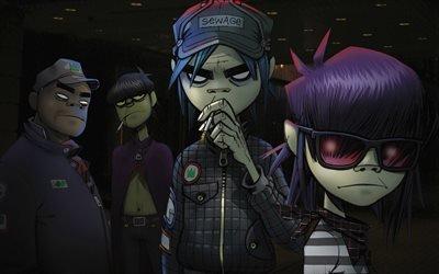 Gorillaz, English virtual band, британская виртуальная группа
