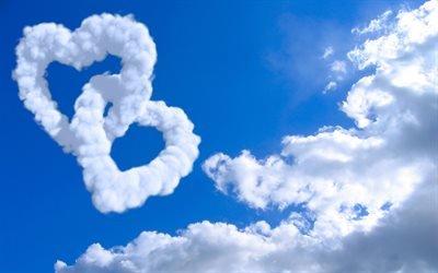 небо, пейзажи, облака, mood, сердца, clouds, cloud, настроение, облако, hearts, sky, scenery