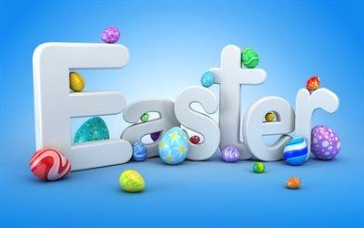 Великдень, шаблон листівки, 3д крашанки, весна, 8 квітня 2018, Пасха, шаблон открытки, 3д пасхальные яйца, 8 апреля 2018