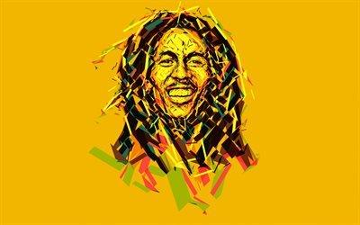 Боб Марли, 4к, минимал, ямайский музыкант, знаменитости