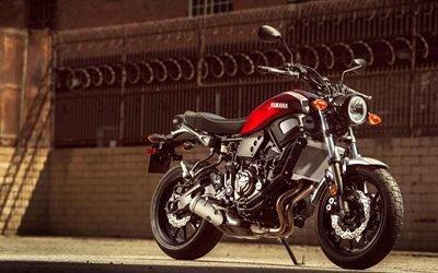 Ямаха XSR700, 4к, супербайки, 2018 год, японский мотоцикл, Ямаха