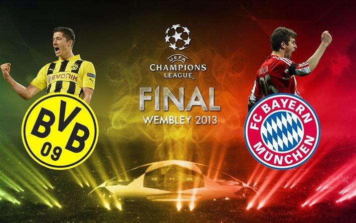 Ліга Чемпіонів, Фінал, Бавария Боруссия, Баварии Мюнхен, Боруссия, Уэмбли, 2013, Уемблі
