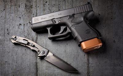 Glock 26Глок, самозарядный компактный пистолет, Австрия