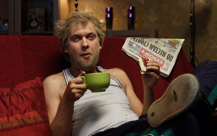 Сергей Светлаков, на диване, Наша Russia