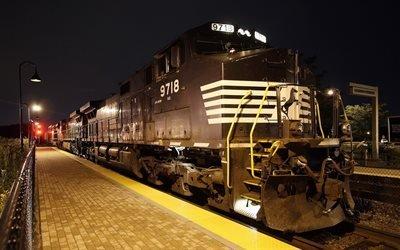 поезд, локомотив