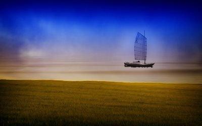 лодка, рыбак, рыболовье, рыбалка, шхуна
