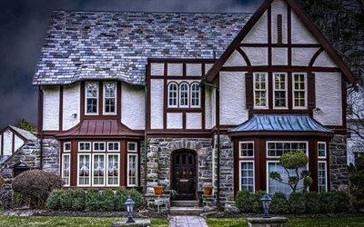 Газон, Фасад, Дом в тюдоровском стиле