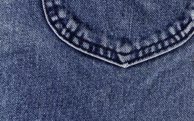 Текстуры, Ткань, Джинсы, Карман
