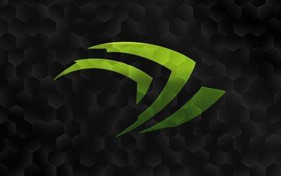 логотип nVidia, Logo, эмблема nVidia, обои с nVidia