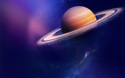 сатурн, галактика, космос, звезды, вселенная