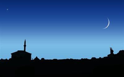 звезда, mosque, небо, мечеть, луна, moon, star, night, ночь, sky