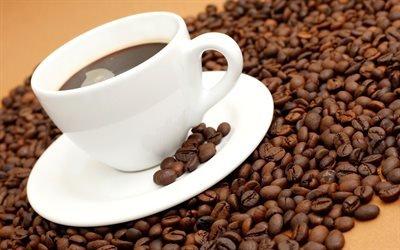 кава, кофе, чашка, зерна, чаша