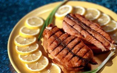 гриль, рыба, фото