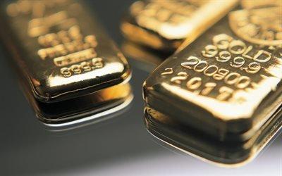 золото, слитки