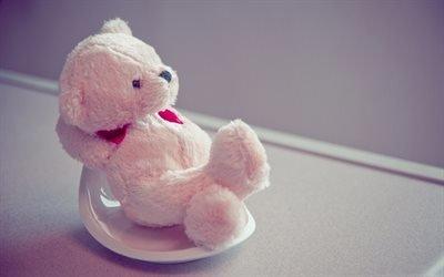 мишка, розовый, медведик, ведмедик