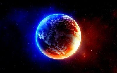 планета, свет, галактика, звёзды, світло, зірки