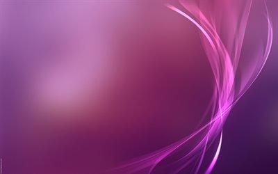 волны, фиолетовый фон, линии, абстракция, хвилі, фіолетовий фон, лінії, абстракція