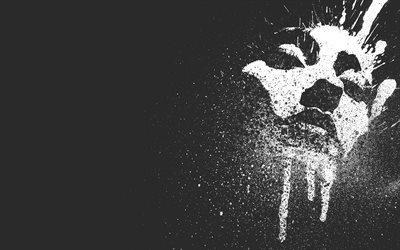 spray, фон, креатив, background, black, брызги, лицо, face, creative, черный, краска, paint