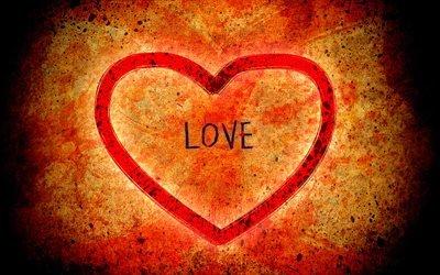 love, любовь, сердце, heart, feelings, чувства, оранжевый, orange, red, красный, красиво, handsomely