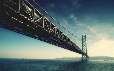Akashi Kaikyo, bridge, Япония, мост, висячий