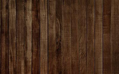 коричневое дерево, 4к, доска, древесная текстура, дерево