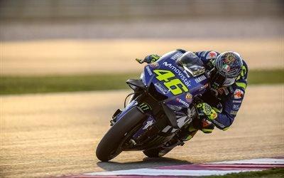 Валентино Росси, 4к, 2018 год, мотогонщик, МотоГП, трасса, спортбайк, Ямаха, MotoGP