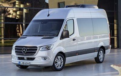 Мерседес Спринтер, 4к, микроавтобусы, 2018 год, новый спринтер, Mercedes Sprinter