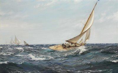 "Монтегю Доусон, Montague Dawson, British painter, британский художник, "" Сапфир "", "" The Sapphire """