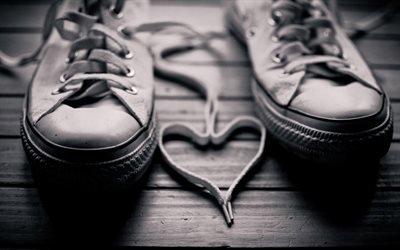 любовь, знак любви, сердце, кеды