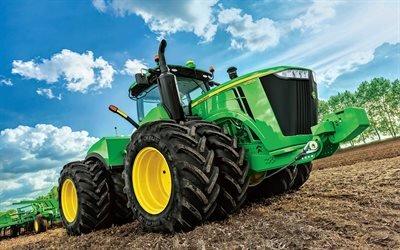 трактор, Джон Дир, johndeere, tractor, 9520r