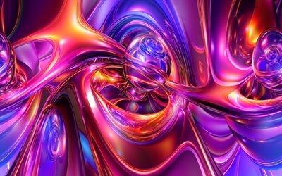 фракталы, арт, креатив, линии, волны, изгибы