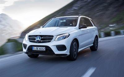 Мерседес ГЛЕ-класс, 2017, внедорожник, белый GLE, новые автомобили, Mercedes-Benz GLE