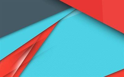 android, арт, 4к, разноцветная абстракция, креатив, геометрические фигуры