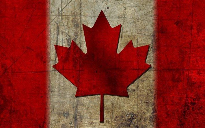 Флаг канады в стиле гранж прапор