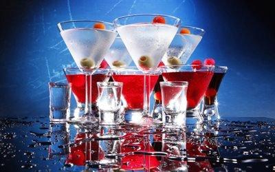 коктейли, мартини, martini, выпивка
