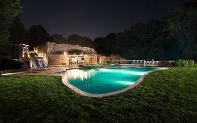 бассейн, дом, волейбол