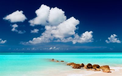 голубая вода, лазурь, океан