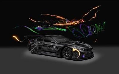 БМВ, гоночное купе, тюнинг, поп-арт, Цао Фэй, Cao Fei, 2017, BMW, Art Car, M6 GT3