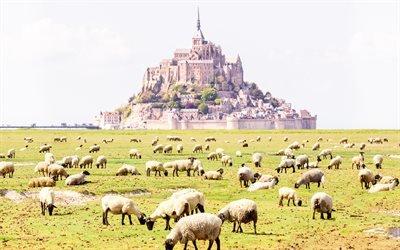 Монастырь Мон-Сен-Мишель, Нормандия, Франция